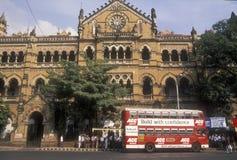 поезд станции mumbai Стоковые Фотографии RF