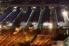 поезд станции shanghai Стоковое Изображение RF