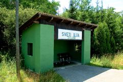 поезд стопа станции Хорватии стоковая фотография rf