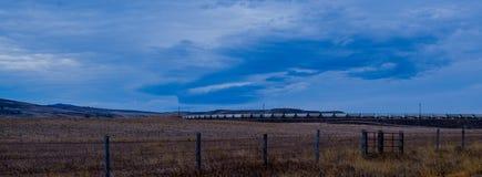Поезд страны Вайоминга Стоковая Фотография