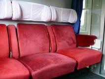 поезд стулов красный сербский Стоковые Изображения