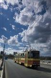 поезд Украина города Стоковое фото RF