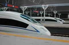 поезд фарфора высокоскоростной Стоковые Изображения