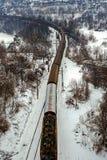 Поезд через зиму Стоковая Фотография RF
