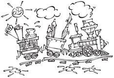 поезд 2 младенцев Стоковая Фотография