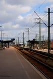 поезд 2 станций стоковое изображение