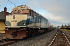 поезд amtrak стоковое изображение