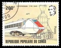 Поезд APT Джордж Stephenson стоковое изображение rf