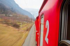 Поезд Bernina курьерский стоковые изображения