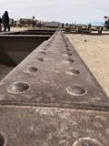 Поезд Cimetary в Uyuni Боливия, Южная Америка Стоковые Фотографии RF