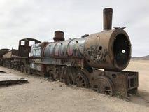 Поезд Cimetary в Uyuni Боливия, Южная Америка Стоковая Фотография RF