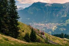 Поезд Grutschalp Murren горы Стоковое фото RF