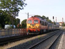 Поезд M41 в Kispest Стоковые Фотографии RF