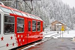 поезд mont 2 blanc Стоковые Фото