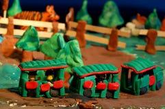 Поезд Plasticin Стоковая Фотография