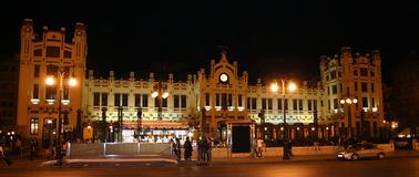 поезд valencia станции Стоковая Фотография RF