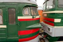 Поезда в депо Санкт-Петербурга Стоковое Изображение