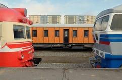 Поезда в депо Стоковые Изображения
