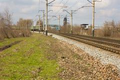 2 поезда к одину другого Стоковые Изображения RF