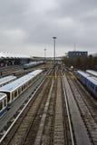 Поезда на станции метро Froettmaning в Мюнхене, 2015 Стоковое Изображение
