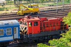 Поезда на станции Стоковое фото RF