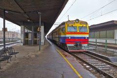 Поезда на staion Стоковое фото RF