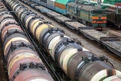 Поезда локомотива и груза Стоковая Фотография RF