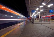 2 поезда, один поезд Стоковое фото RF