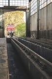 Поезда ремонта депо Стоковые Изображения RF