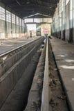 Поезда ремонта депо Стоковое Фото