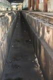 Поезда ремонта депо Стоковая Фотография RF