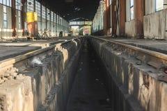 Поезда ремонта депо Стоковое Изображение RF
