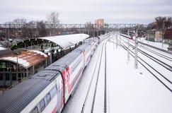 Поезд бренда фуры 2 этажей сидячий Стоковое фото RF