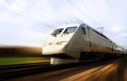 поезд быстрого движения нерезкости Стоковые Фотографии RF
