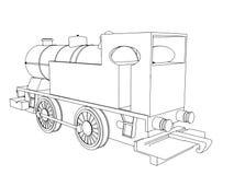 Поезд вектора ретро, винтажный символ вектора бесплатная иллюстрация