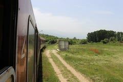 Поезд выходит а muletar состав Стоковая Фотография