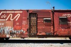 Поезд в северной Мексике Стоковые Изображения