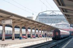 Поезд в станции Стоковые Фото
