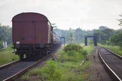 Поезд в Шри-Ланка Стоковое Изображение