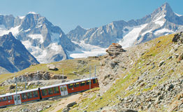 Поезд горы Стоковое Изображение RF