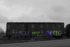 Поезд граффити Стоковое Изображение RF