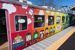 Поезд земли Томаса, один из поезда железнодорожного пути Fujikyu, Kawagu Стоковое Фото