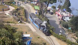 Поезд игрушки Darjeeling. стоковые изображения