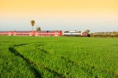 Поезд Израиля Стоковые Фото
