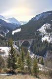 Поезд и мост Стоковое Изображение RF