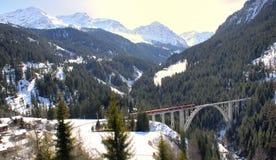 Поезд и мост Стоковая Фотография