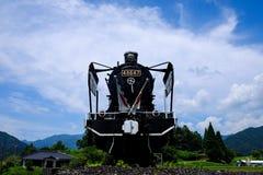Поезд и небо Стоковое Изображение