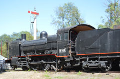 Поезд и сигналы пара Стоковое Изображение RF