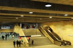 Поезд и станция метро Стоковые Изображения RF