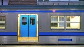 Поезд и станция Японии Стоковое Изображение